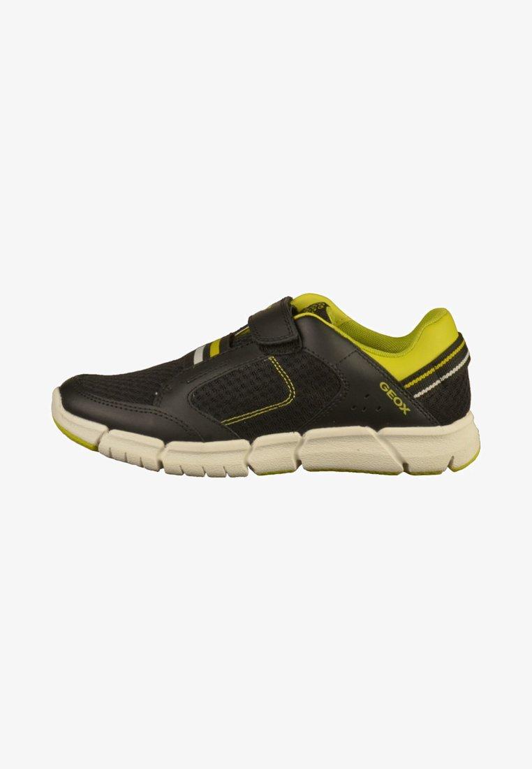 Geox - Sneakersy niskie - black/lime