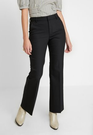 HAZAL CEN FLARED PANTS - Stoffhose - black