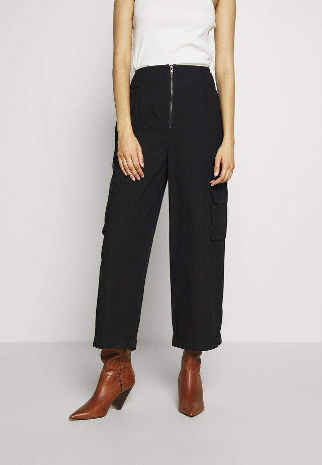 STALIA CULOTTES - Trousers - black