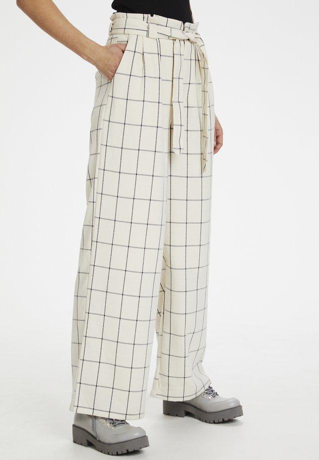Spodnie materiałowe - egret
