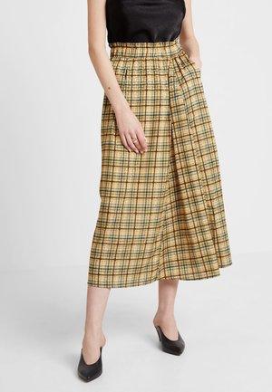 SKIRT - A-line skirt - yellow