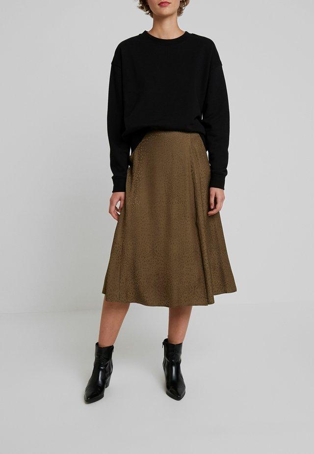 IRINA SKIRT - Maxi sukně - dark olive