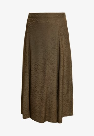 IRINA SKIRT - Maxi skirt - dark olive