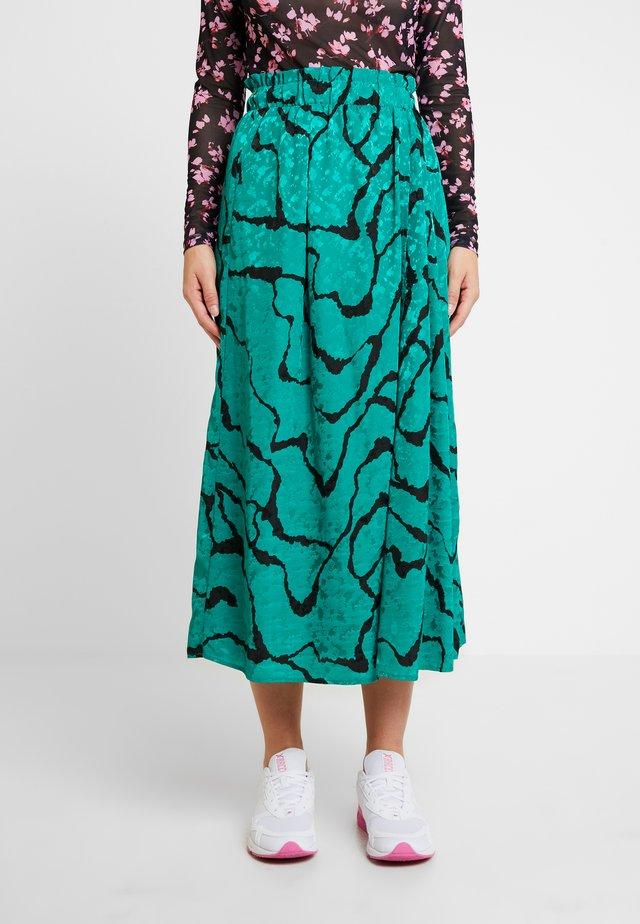 AYLIN SKIRT - Áčková sukně - green ripple