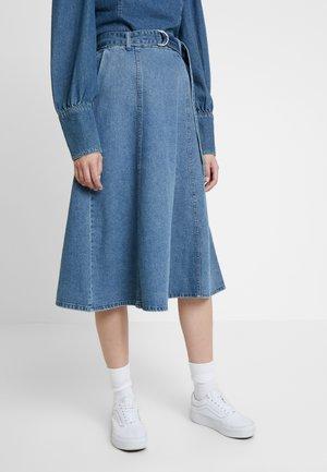 SERALA SKIRT - A-snit nederdel/ A-formede nederdele - denim blue