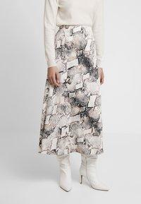 Gestuz - BARAN SKIRT - A-line skirt - light grey/black - 0