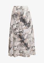 BARAN SKIRT - A-line skirt - light grey/black