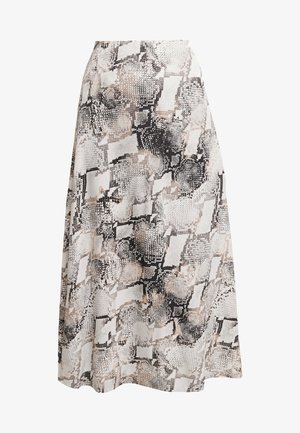 BARAN SKIRT - A-linjainen hame - light grey/black
