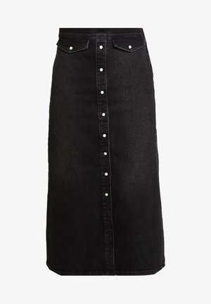 ASTRID LONG SKIRT - Jeansskjørt - washed black