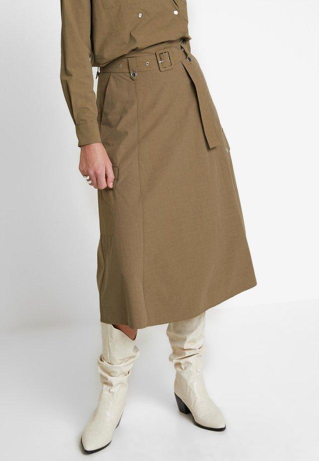 ADALINE SKIRT - A-line skirt - capers