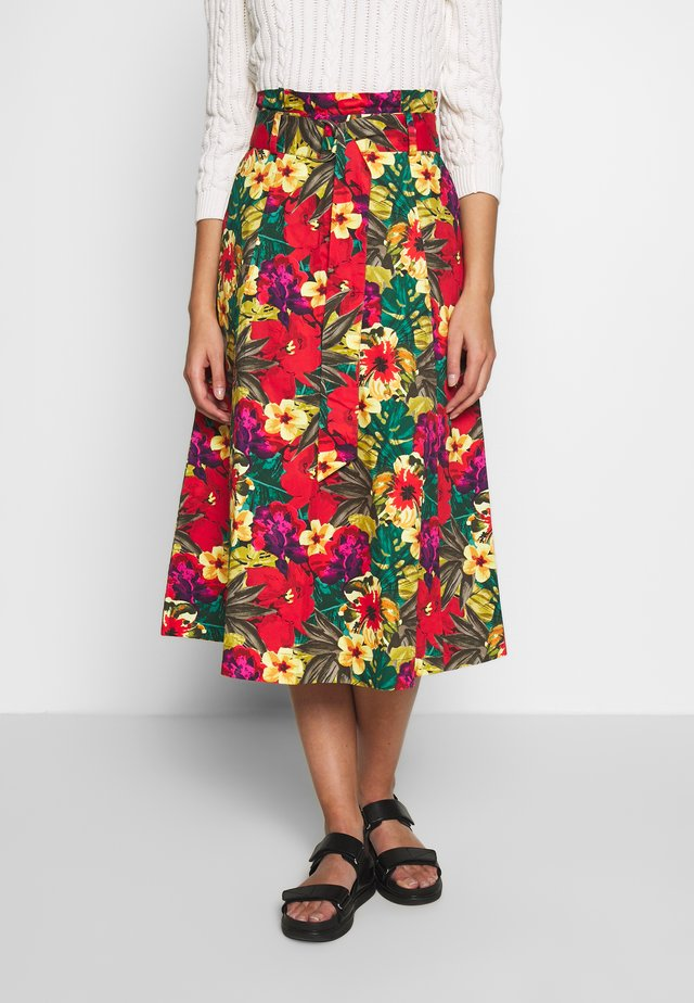STELLA SKIRT - A-linjainen hame - tropical yellow