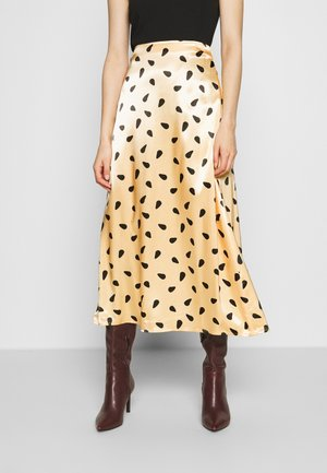 LUTILLEGZ SKIRT - A-line skirt - yellow black dot