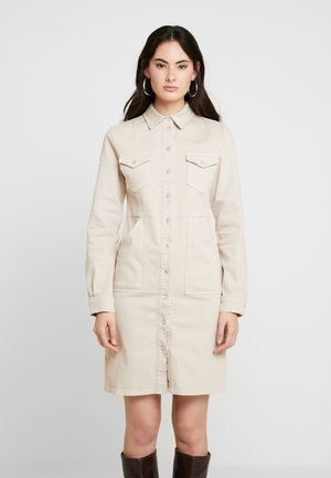 DRESS - Robe en jean - safari