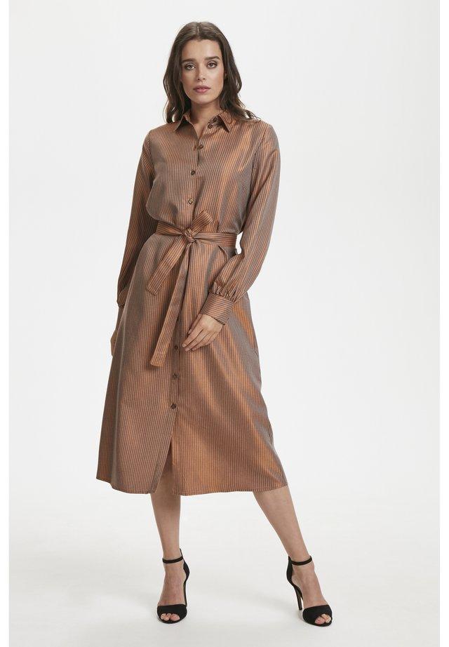 MORGANA - Shirt dress - rooibos tea jaquard