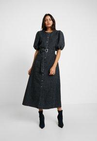 Gestuz - SIENTA DRESS - Denim dress - vintage black - 0