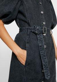 Gestuz - SIENTA DRESS - Denim dress - vintage black - 6