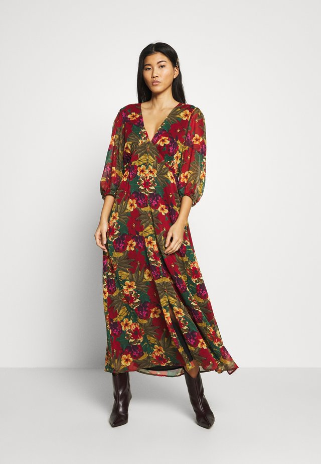 TESS LONG DRESS - Sukienka letnia - tropical yellow