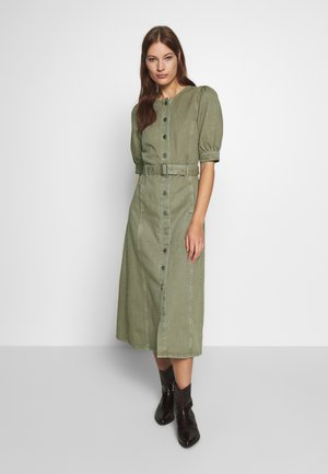 DILETTO DRESS  - Denim dress - dried herb