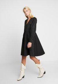 Gestuz - STELLA SOLID DRESS - Day dress - black - 2