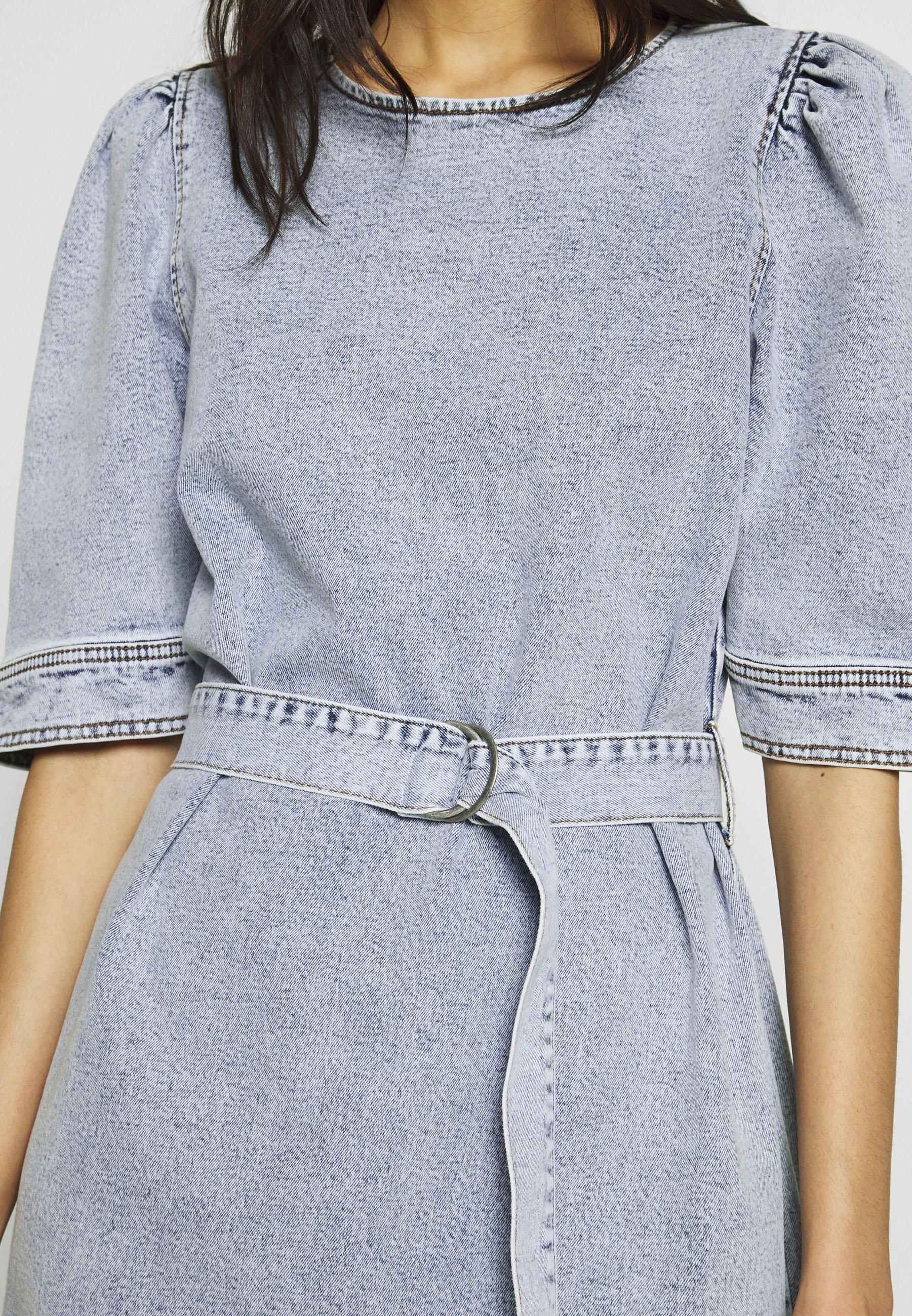 Gestuz Atica Dress - Vestito Di Jeans Light Blue lH3BVTL