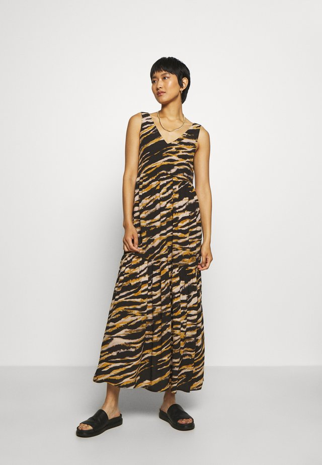 TIA DRESS - Korte jurk - black/yellow/white