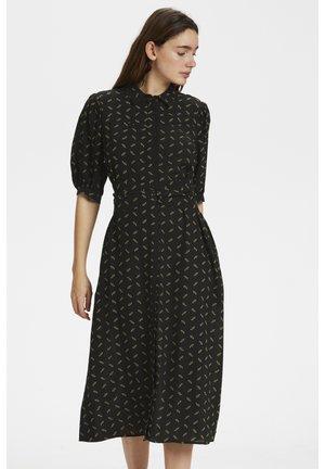 Skjortklänning - black flower pattern