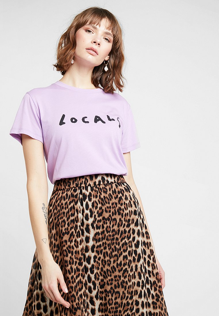 Gestuz - LOCALS TEE - T-shirts print - sheer lilac