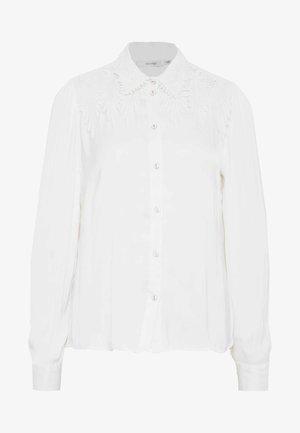 TRICIA - Button-down blouse - cloud dancer