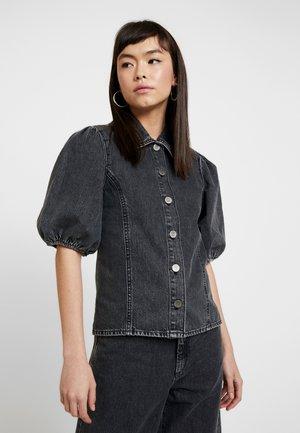 SIENTAGZ - Button-down blouse - vintage black
