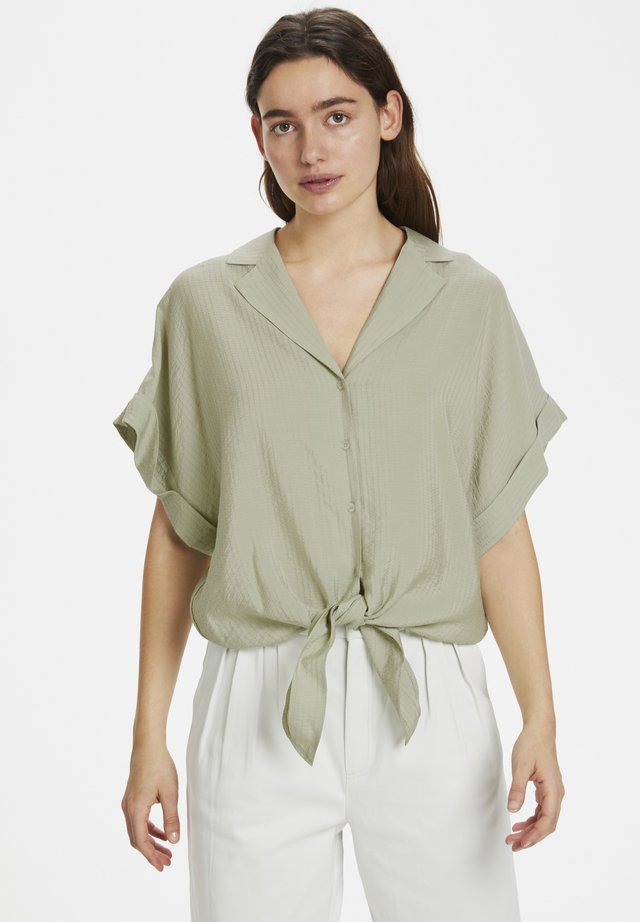 Button-down blouse - pale green