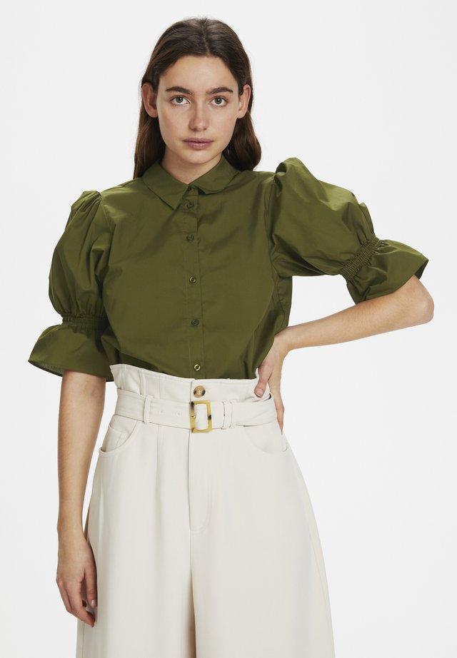 CASSIAGZ  - Button-down blouse - dark olive