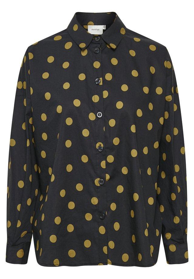 JACINTA - Button-down blouse - tapenade dot
