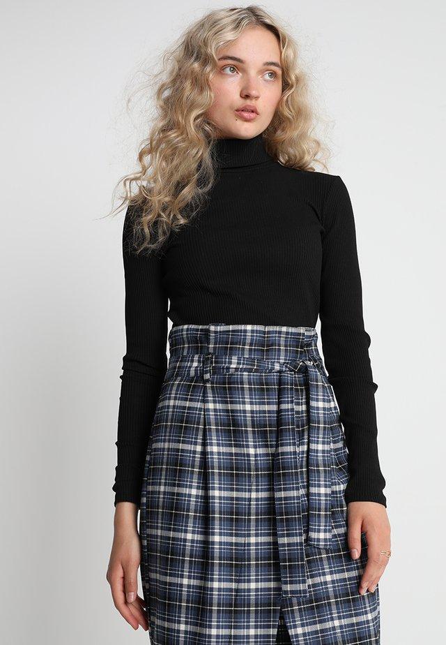ROLLA ROLLNECK - Long sleeved top - black