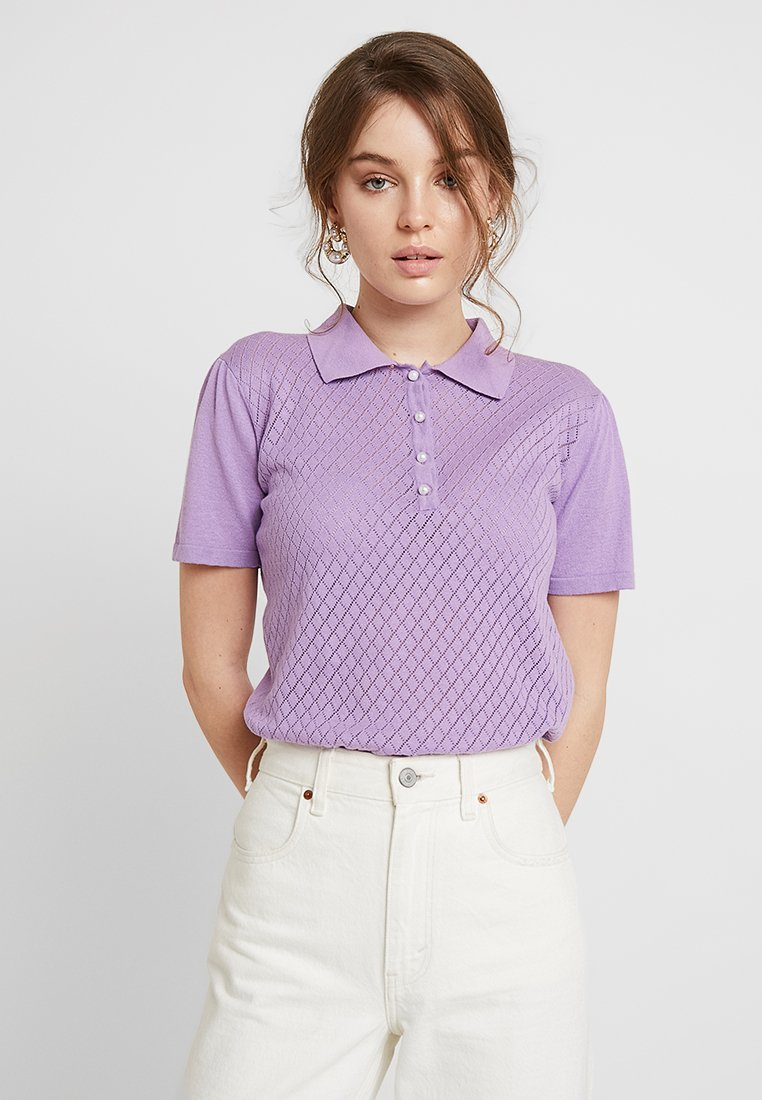 Gestuz - LISAH - Polo shirt - sheer lilac