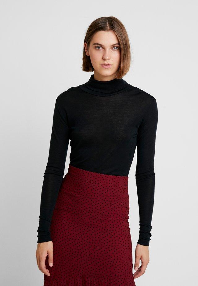 WILMA ROLLNECK - Sweter - black