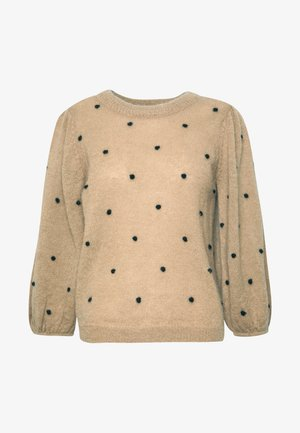 ASTAN PUFF - Strickpullover - safari