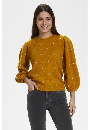 ASTANGZ PUFF PULLOVER MS20 - Stickad tröja - golden oak