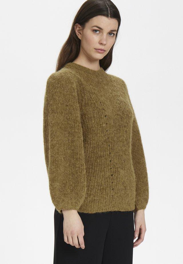 RIKKAGZ PUFF - Sweter - tapenade