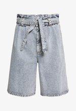 ATICA - Denim shorts - light blue