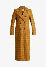 FRIA COAT - Abrigo - yellow/green