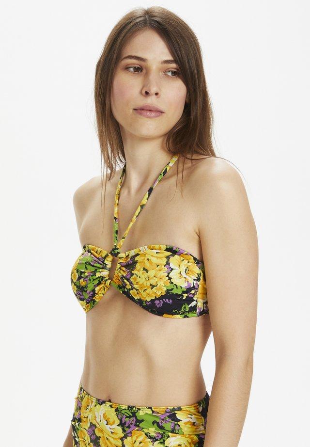 Bikini pezzo sopra - yellow flower garden