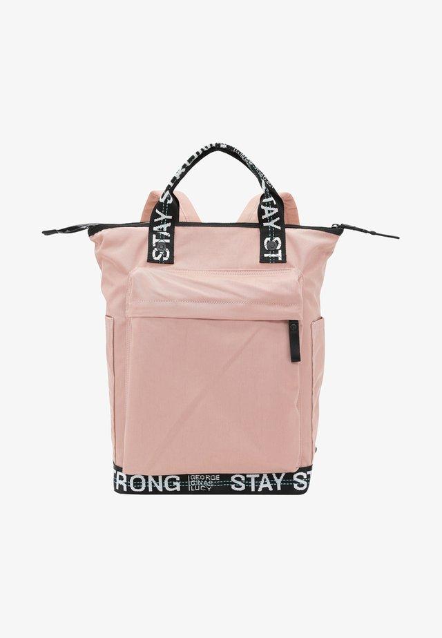 Sac à dos - mottled light pink/black
