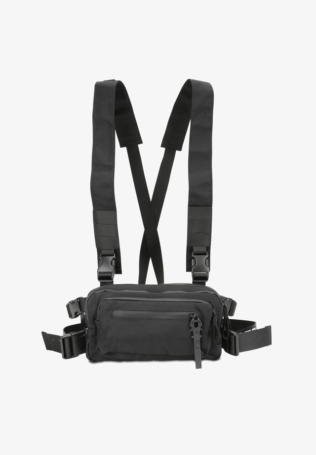 ROOTS TIED TOM - Bum bag - black strong