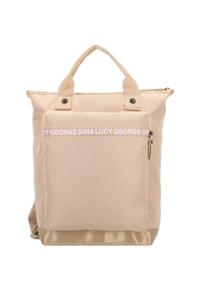 LAPTOPFACH - Rucksack - beige/rose