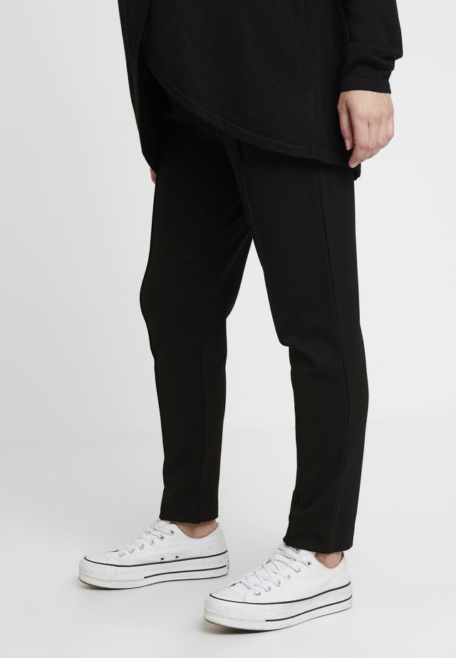 MARBLE - Trousers - black