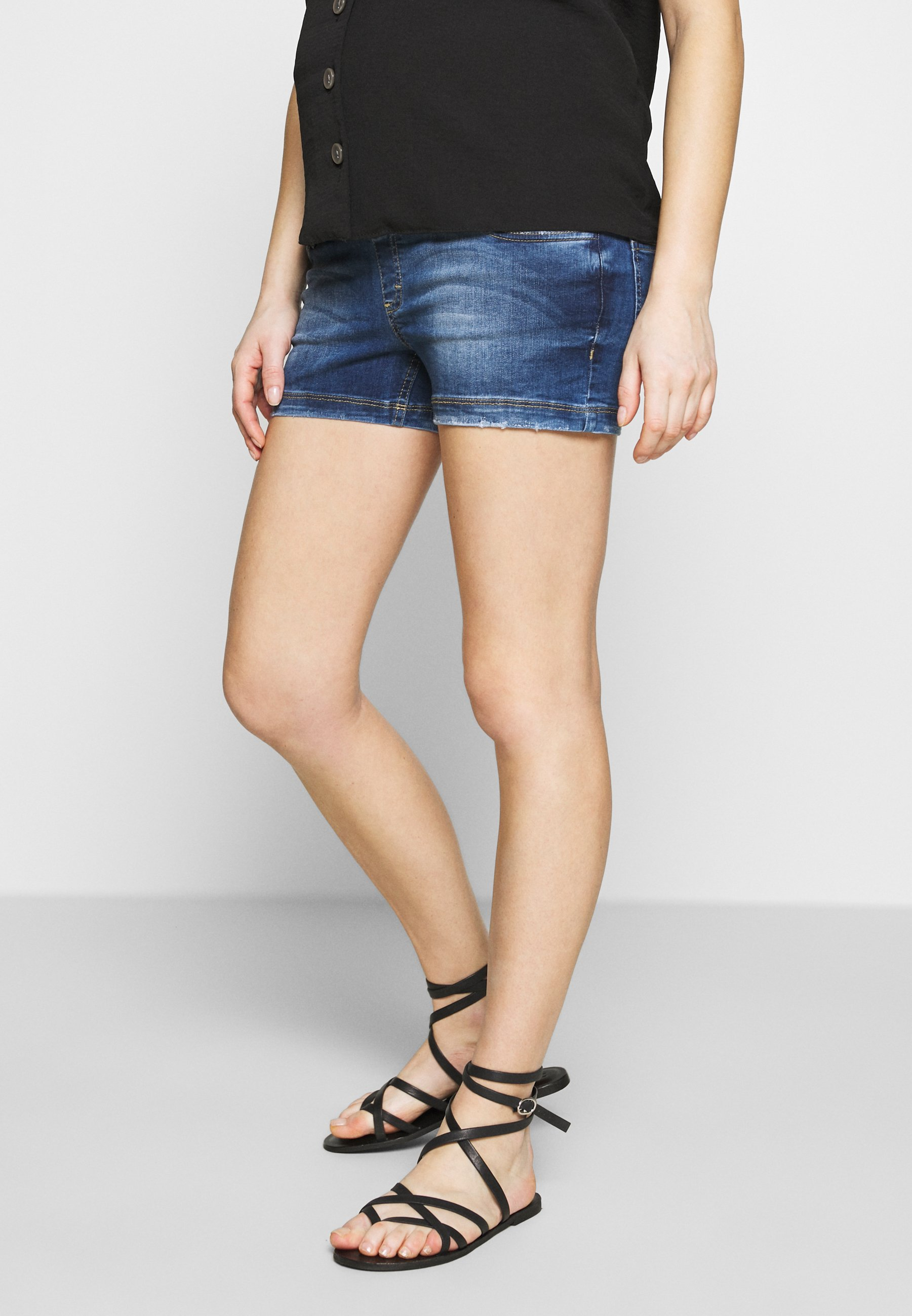 Gebe ZURI - Szorty jeansowe - blue