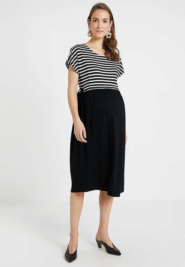 DRESS KIRA NURSING - Trikoomekko - black/white
