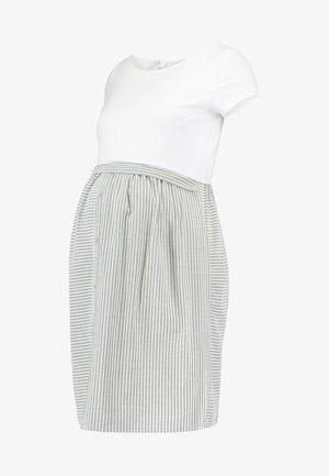 DRESS LALIN NEW NURSING - Sukienka koszulowa - grey-white