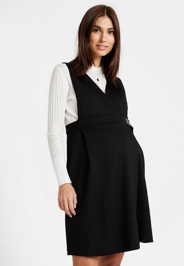 DRESS DELFINA - Trikoomekko - black