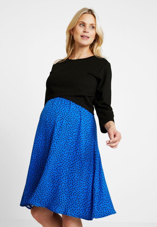 DRESS HONEY NURSING - Jerseykleid - black/blue